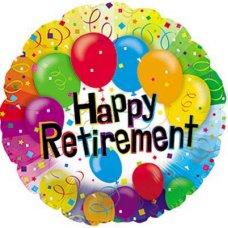 Happy Retirement Balloons (114027HP) Round P1