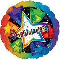 Congratulations 3-D Stars (114101HP) Round P1