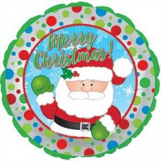Waving Santa (114321HP) Round P1