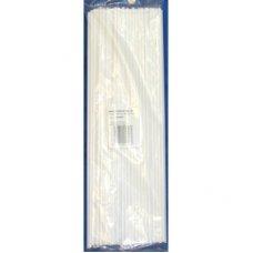 Balloon Sticks White 300 x 4mm Bag 100