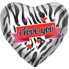 SPECIAL ! Zebra Love  (00619-01) Shaped P1