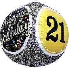 21st Birthday 3D Sphere (01150-01) Sphere P1