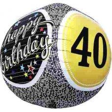 40th Birthday 3D Sphere (01152-01) Sphere P1