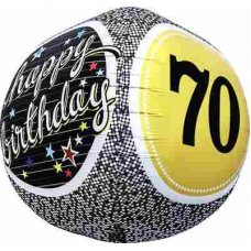 70th Birthday 3D Sphere (01155-01) Sphere P1