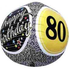 80th Birthday 3D Sphere (01156-01) Sphere P1