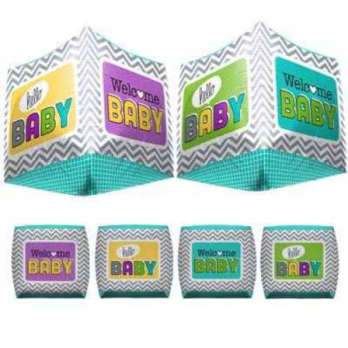 SPECIAL ! Welcome Baby 3D Cube (01042-01) Cube P1