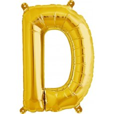 Gold Letter D (00570-01) 16 inch for Air filling Shaped P1