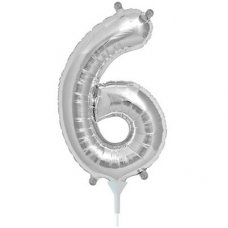 Silver 16in Number 6 (00438-01) Shaped P1