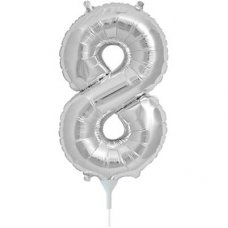 Silver 16in Number 8 (00440-01) Shaped P1
