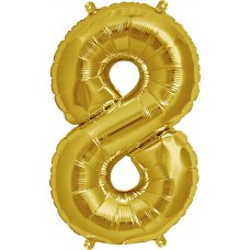 Gold 16in Number 8 (00565-01) Shaped P1
