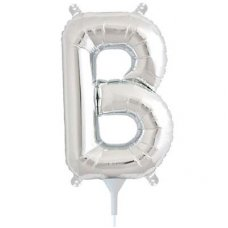 Silver 16in Letter B (00480-01) Shaped P1