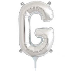 Silver 16in Letter G (00485-01) Shaped P1