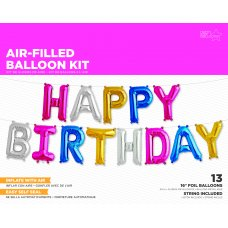 Multicolour 16in KIT Happy Birthday (00904-01) Air Shaped Kit