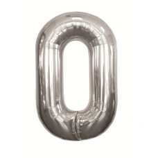 Silver 34in Number 0 (00094-94) Shaped P1