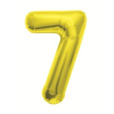 Gold 34in Number 7 (00111-111) Shaped P1