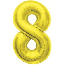 Gold 34in Number 8 (00112-112) Shaped P1