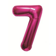 Magenta 34in Number 7 (00141-141) Shaped P1