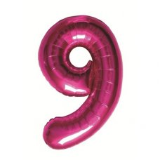 Magenta 34in Number 9 (00143-143) Shaped P1