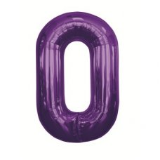 Purple 34in Number 0 (00144-144) Shaped P1