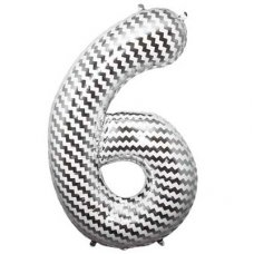 SPECIAL! Chevron 34in Number 6 (01197-01) Shaped P1