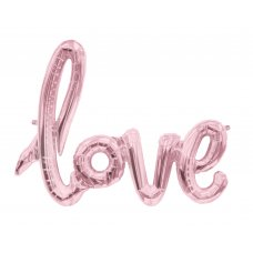 Script Word Rose Gold LOVE (01287-01) Shaped P1