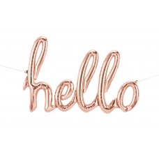 Script Word Rose Gold HELLO (01328-01) Shaped P1