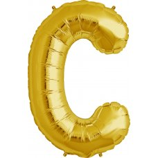 Gold 34in Letter C (00250-250) Shaped P1