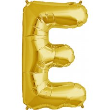 Gold 34in Letter E (00252-252) Shaped P1