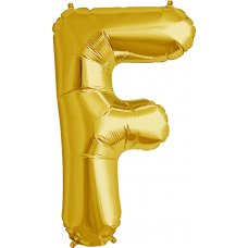 Gold 34in Letter F (00253-253) Shaped P1