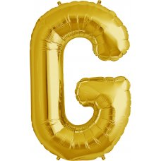 Gold 34in Letter G (00254-254) Shaped P1