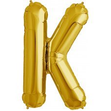 Gold 34in Letter K (00258-258) Shaped P1