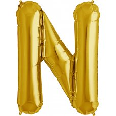 Gold 34in Letter N (00261-261) Shaped P1