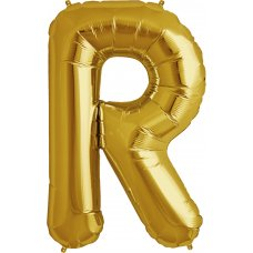 Gold 34in Letter R (00265-265) Shaped P1