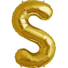 Gold 34in Letter S (00266-266) Shaped P1