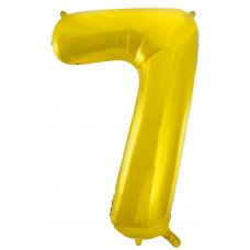 34inch Decrotex Foil Balloon Numeral Gold #7 Shaped P1