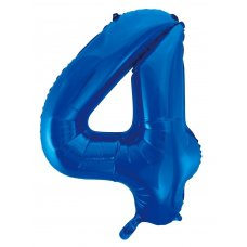 34inch Decrotex Foil Balloon Numeral Blue #4 Shaped P1