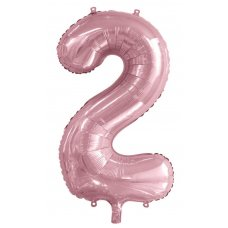 34inch Decrotex Foil Balloon Numeral Light Pink #2 Shaped P1