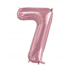 34inch Decrotex Foil Balloon Numeral Light Pink #7 Shaped P1