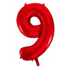 34inch Decrotex Foil Balloon Number Red #9 Shaped P1
