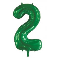 34inch Decrotex Foil Balloon Number Green #2 Shaped P1
