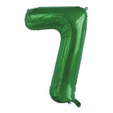 34inch Decrotex Foil Balloon Number Green #7 Shaped P1