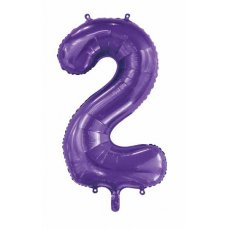 34inch Decrotex Foil Balloon Number Purple #2 Shaped P1