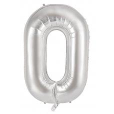 34inch Decrotex Foil Balloon Alphabet Silver #O Shaped P1