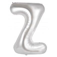 34inch Decrotex Foil Balloon Alphabet Silver #Z Shaped P1