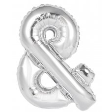 34inch Decrotex Foil Balloon Alphabet Silver & Shaped P1