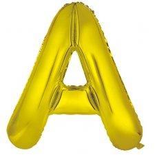 34inch Decrotex Foil Balloon Alphabet Gold #A Shaped P1