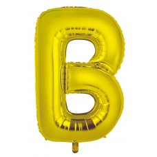 34inch Decrotex Foil Balloon Alphabet Gold #B Shaped P1