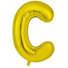 34inch Decrotex Foil Balloon Alphabet Gold #C Shaped P1