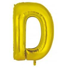 34inch Decrotex Foil Balloon Alphabet Gold #D Shaped P1