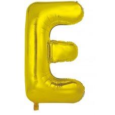 34inch Decrotex Foil Balloon Alphabet Gold #E Shaped P1